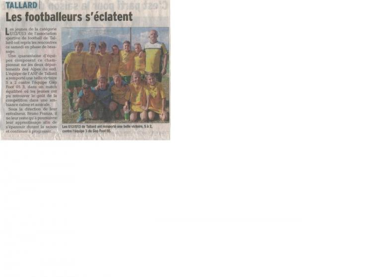 1er article ASF U13